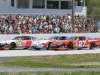 3-wide with (left to right) Hunter Bates, Travis Stearns and Wayne Helliwell