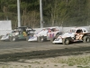 3 wide in Sportsman Coupe action with Jason Horniak (3), Jeremy Beckley (24) &amp; Terry Williams (97)