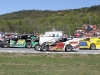 The all-new Northern Modified Challenge Series opens at Thunder Road Int'l Speedbowl in Barre, VT with the Mekkelsen RV Memorial Day Classic on Sunday, May 26.  Vince Quenneville, Jr. (#78), Cody Sargen (#55), and Ron Proctor (#27) are among the drivers expected to enter the series.  (MemorEvents photo)