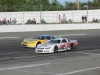 Bobby Gower (5) passes Tate Fogleman (#8f) for position during the last chance race.