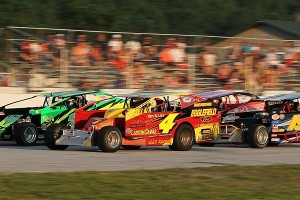 "The Bond Auto Parts Modified division will run a ""Twin 25"" doubleheader on Carmody Ford Night at Devil's Bowl Speedway on Friday, June 14.  (MemorEvents photo)"