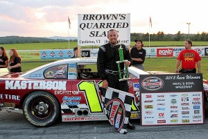 Rookie Josh Masterson of Bristol, VT earned his second Late Model win of the season at Devil's Bowl Speedway.