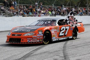 Chris Bergeron (#27) of Claremont, NH will try to become the first-ever repeat Late Model champion at Devil's Bowl Speedway in 2014.