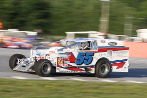Cody Sargen (#55) has been knocking on the door of his first Bond Auto Parts Modified victory at Devil's Bowl Speedway - he'll have two chances with double feature races on Friday, June 27.  (MemorEvents photo)