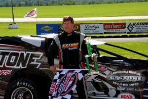 Todd Stone of Middlebury, VT is back on top of the Bond Auto Parts Modified standings heading into Friday's Rutland Herald Mid-Season Championships at Devil's Bowl Speedway.  (Alan Ward photo)