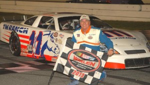 David Rogers hopes to be holding a 2015 checkered flag in victory lane this year...