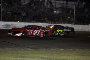 Helliwell, JR Gelinas Battle on the last lap