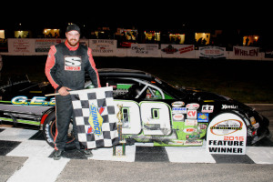 Jeremy Davis Seacoast 100 Victory lane (Rich Hayes Photo)