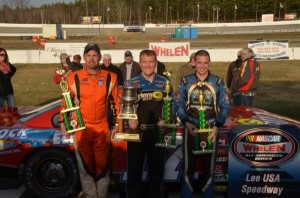 Top 3 Winner-#17 Eddie MacDonald 2nd place #97 Joey Polewarczyk Jr and 3rd place - #27 Wayne Helliwell Jr