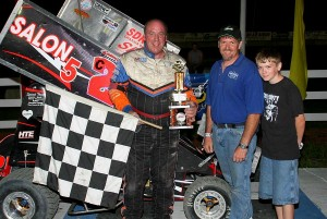 Rich Crooker had a dominating performance in the 600cc Mini Sprints