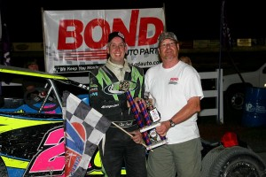 Chris Donnelly was the winner in the Sportsman Modifieds