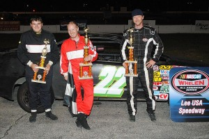 Ironman second feature top 3 - Travis Hollins, winner Adam Knowles, Wayne Osborne.