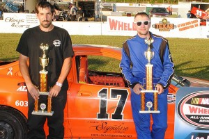 Ironman 4-cylinder runner-up Steve George with winner Jesse Tellier.