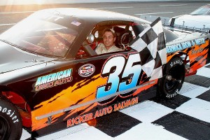 Late Model Sportsman winner Alby Ovitt ended the night with two wins.