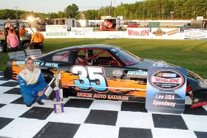 Alby Ovitt won both ends of the Late Model Sportsman double features.