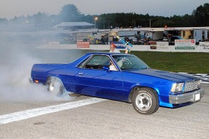 El Camino burnout contest winner.