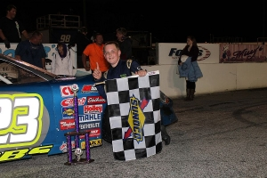 Zachary Dabbs in victory lane