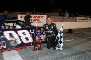 Daniel Hemric in Victory Lane